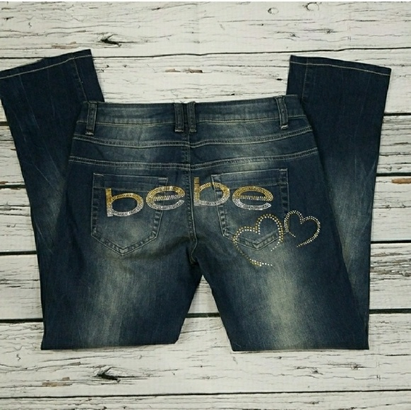 bebe Denim - NWT 2b Bebe wide leg wonder jeans sz 27